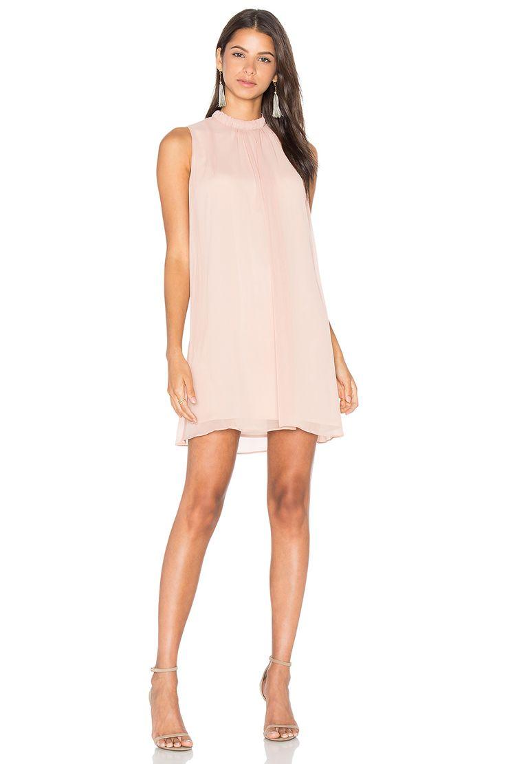 WAYF Sugar Dust Ruffle Dress in Blush