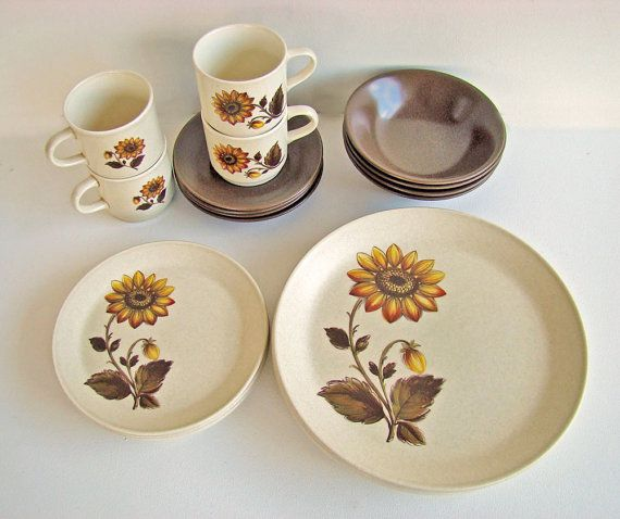 Reserved Listing for Beth - Johnson of Australia Retro Dinner Set For 4 1970s Dinnerware with Sunflower Pattern & 25 best Johnson of Australia - confirmed patterns! images on ...