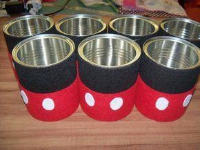 envases mickey centros de mesa - Buscar con Google