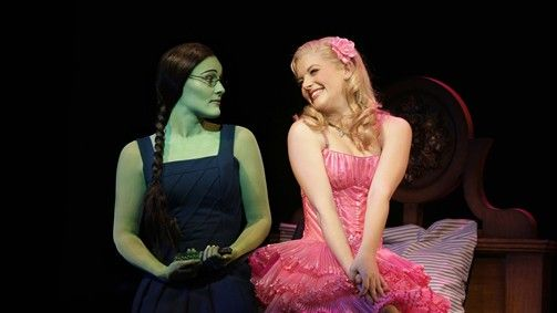 WICKED  Jemma Rix as Elphaba and Lucy Durack as Glinda  Address: Regent Theatre, 191 Collins Street, Melbourne, Victoria 3000