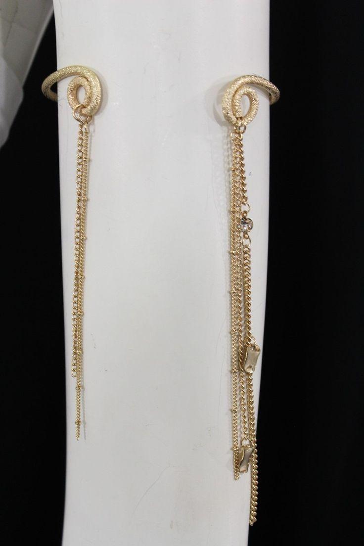 Gold Metal Arm Cuff Mesh Body Bracelet Fringe Chains New Women Fashion Jewelry