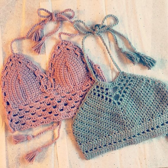 Crochet festival top crochet crop top by LostATLANTIShandmade