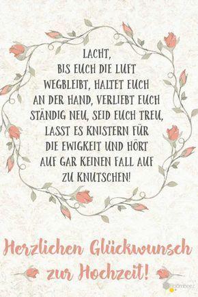Hochzeit Glückwünsche Grußkarte Sprüche Diesen Und