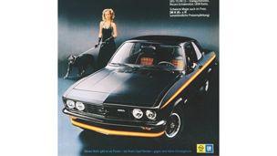 Opel - 1970 - Reklam för specialversionen av Opel Manta A GT/E Black Magic…