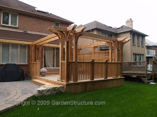 Dreaming is free deck pergola pergola pictures and decks for Redwood deck plans