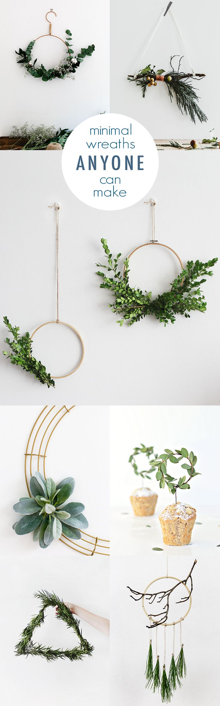 Minimal DIY Wreath Ideas @idlehandsawake