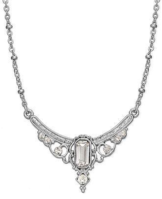 Downton Abbey Necklace, Silver-Tone Edwardian Jewel Collar Necklace - All Fashion Jewelry - Jewelry & Watches - Macy's