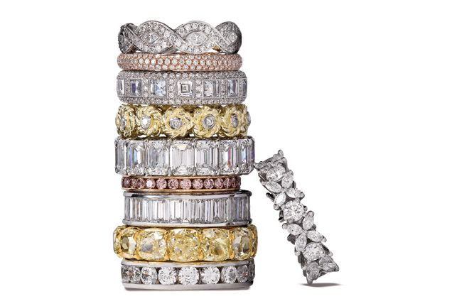 I have no business looking at these, but these eternity rings are GORGEOUS: Stackable Rings, Wedding Ring, Jewellery Tiffany, Bands Rings, Diamonds Rings, Gold Rings, Diamonds Bands, Pink Diamonds, Engagement Rings