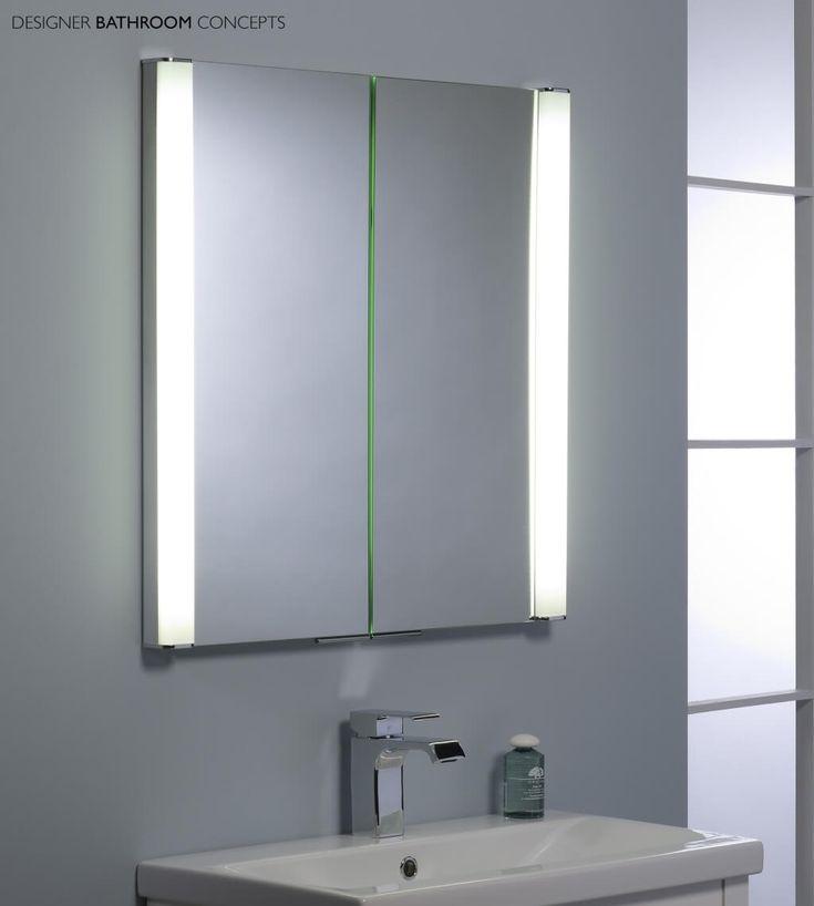 Bathroom Mirror With Storage And Lightbathroom Enchanting Bathroom Mirror Cabinet With Light And