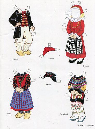 book - libro - scandinavian girl and boy - paper doll - Denmark (2) | par sonobugiardo