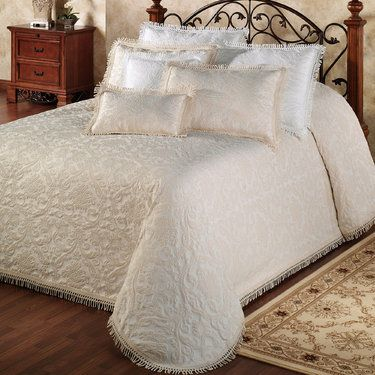 Rocco Medallion Woven Matelasse Oversized Bedspreads $180