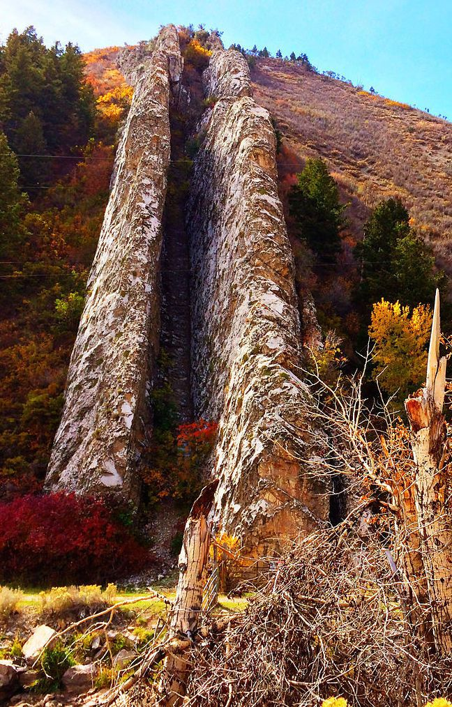 Devil's Slide is an unusual geologic feature found in northern Utah.