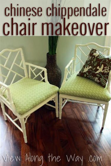 DIY update of designer-inspired Chinese Chippendale chairs (on the cheap!)