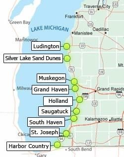 Lake Michigan's beach towns