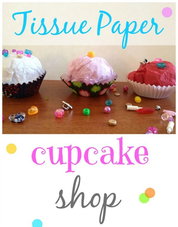 Make your own tissue paper cupcake shop! Love how cute these are!
