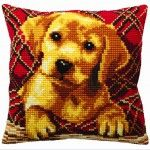 Labrador Puppy - kruissteekkussen CDA