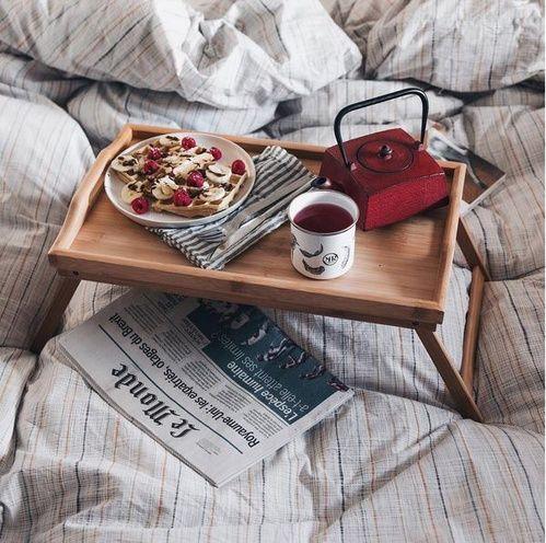 Le petit déjeuner au lit d'Amélie Tauziede