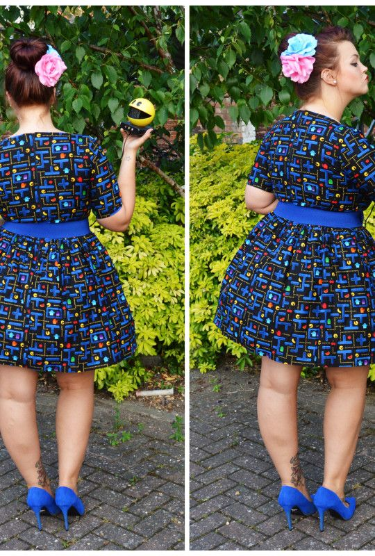1950's Style Retro Gamer Dress with Sleeve - Silly Old Sea DogSilly Old Sea Dog