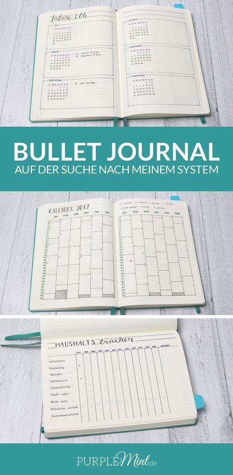 Bullet Journal - Future Log - Calendex - Haushaltstracker
