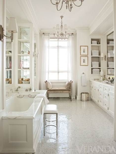 Would love to have a massive white bathroom