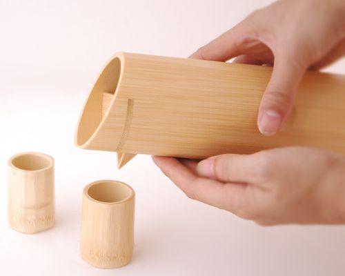 竹酒器セット - おかいものひた.com「ひたのげた・クラフト」編 Syuki - Sake cups by bamboo