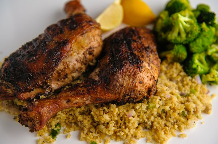 Indian Spiced Chicken, Cauliflower Fried Rice & Roasted Broccoli