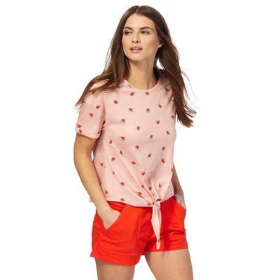 Red Herring Peach watermelon print t-shirt | Debenhams
