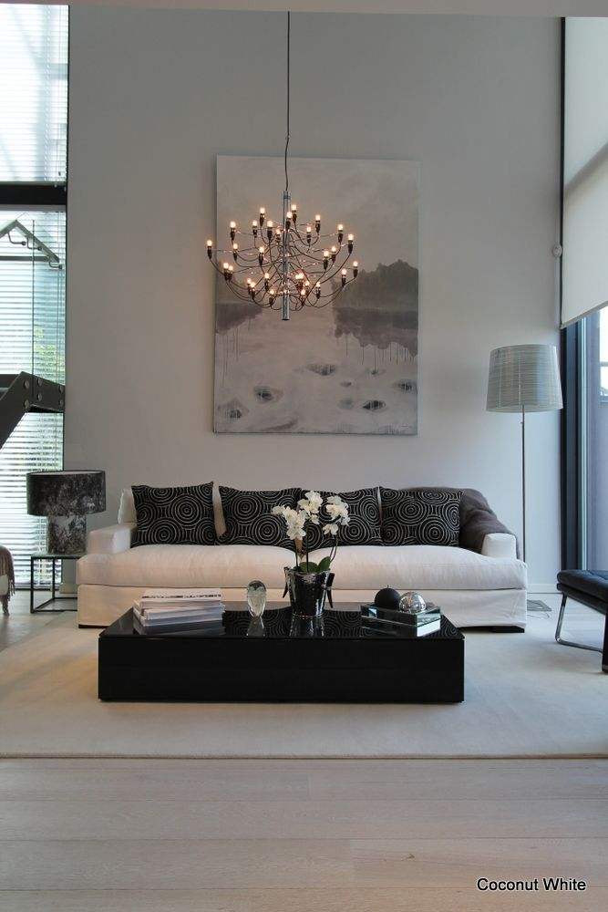 Living room with coconut white and beige combo