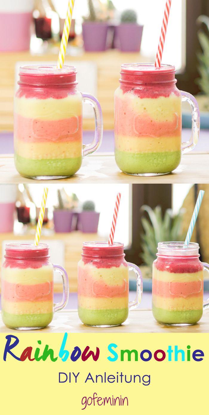 Wir lieben den gesunden Rainbow Smoothie !!!