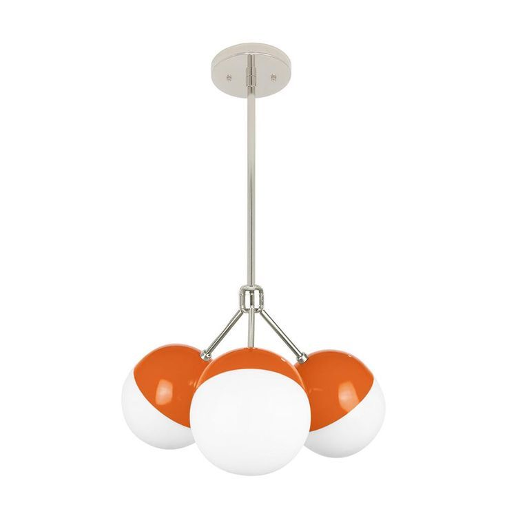 Orange Color Throup Globe Chandelier Chandeliers Lighting