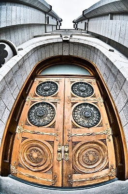 A Beautiful View Of The Salt Lake Temple doors. (http://lds.org/temples)