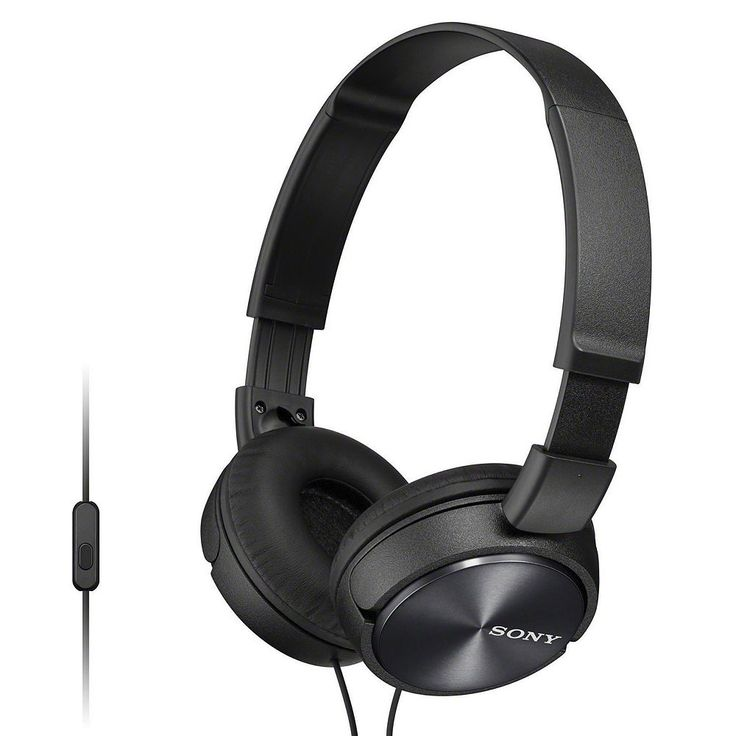 Sony ZX Series Headphones with Mic & Remote, Black