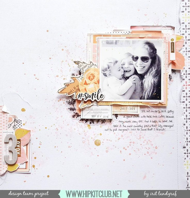 Create a color scheme of pinks, corals and pops of black and white like designer @aurora_landgraf has done so beautifully with her layout using the #september2016 #hipkits! Be sure to check out the process video too! @hipkitclub #mixedmedia @shimmerzpaints #kitclub #hkcexclusives #exclusives #papercrafting #hipkitclub #scrapbookingkitclub #scrapbooking @cratepaper #gathercollection #gather