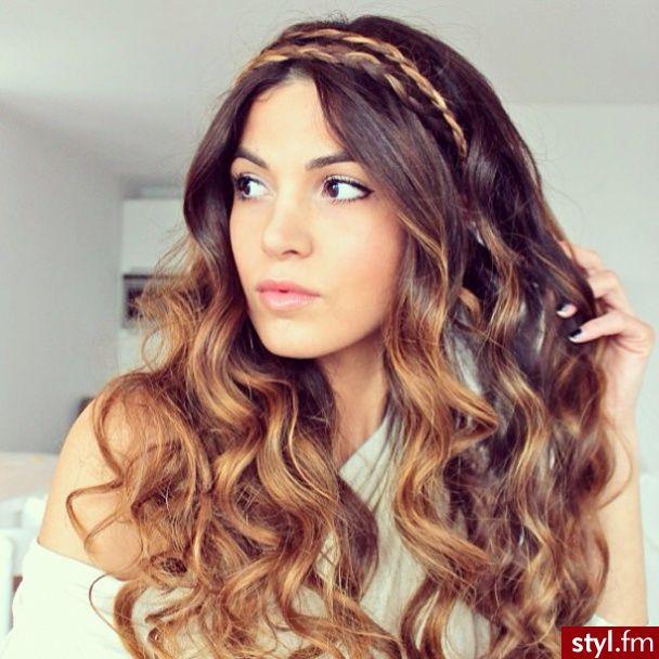 headband braid with curls - photo #25