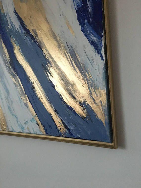 Tableau Peinture Abstrait Acrylique Veritable Peinture Sur
