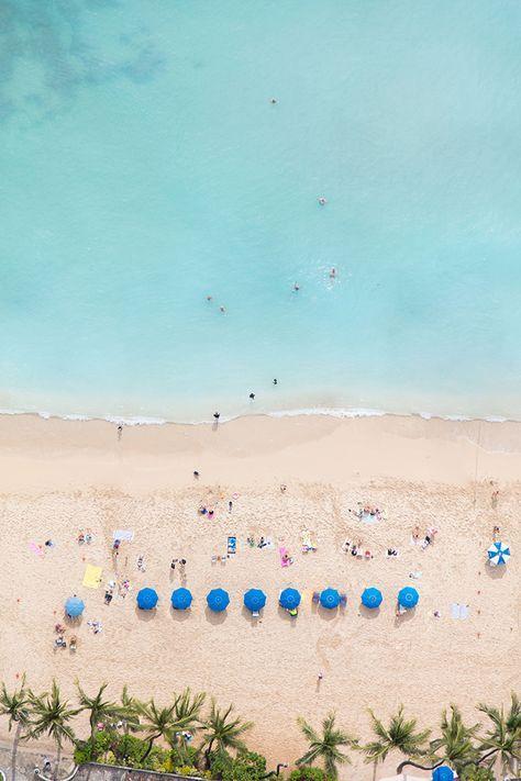 Waikiki Blue Umbrellas