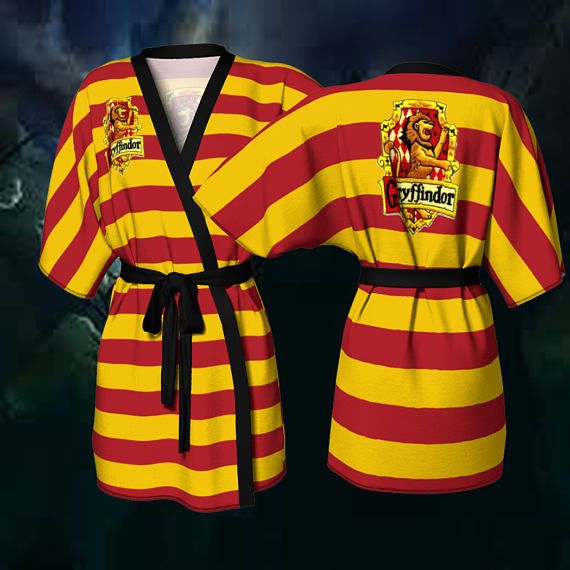 Check out this item in my Etsy shop https://www.etsy.com/ca/listing/511837906/gryffindor-robe-gryffindor-kimono-robe