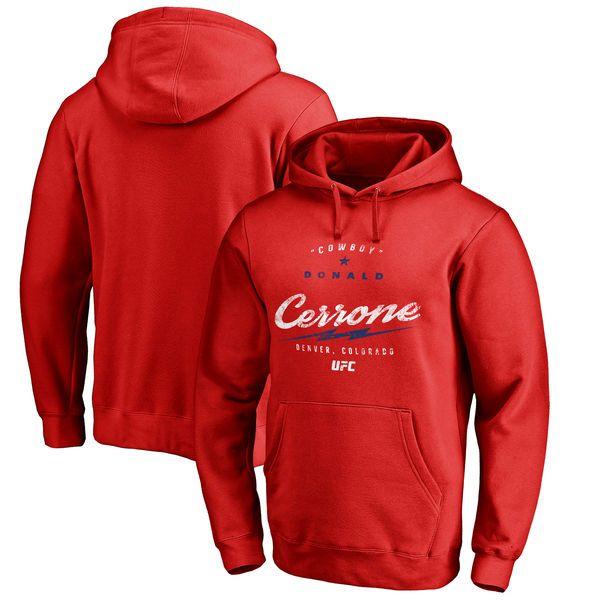 Donald Cerrone UFC Bolt Pullover Hoodie - Red - $59.99