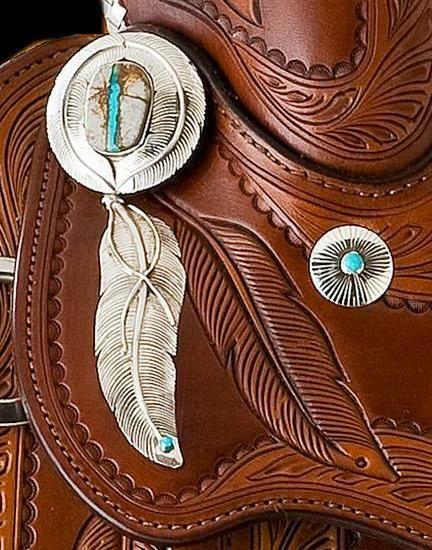 Skyhorse.com - Ribbon-torquoise-saddle