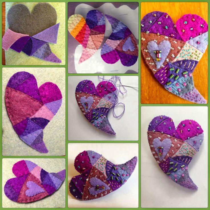 Primitive Patchwork Heart 1