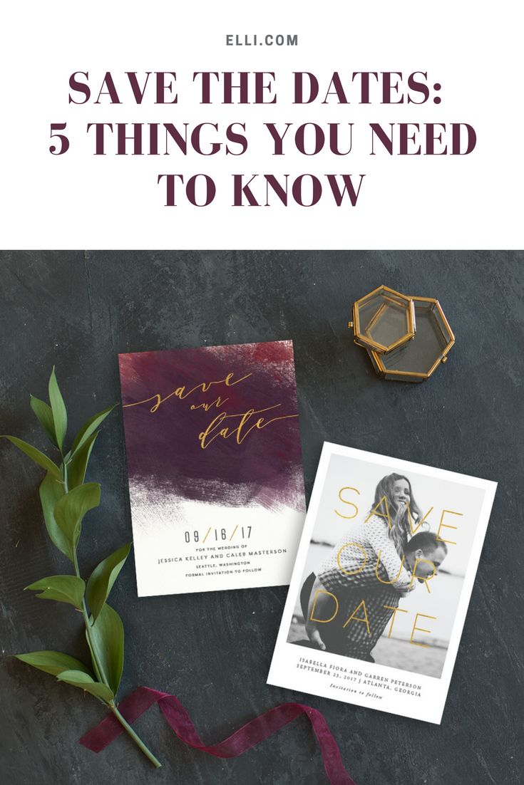 Save the dates - 5 things you NEED to know!