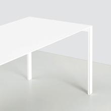 Kristalia Thin-K Aluminium Esstisch ausziehbar B: 2300 H: 750 T: 800 mm, weiß/weiß  1700€