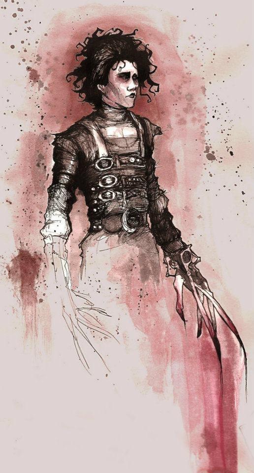 Edward Scissorhands fan art by Abigail Larson