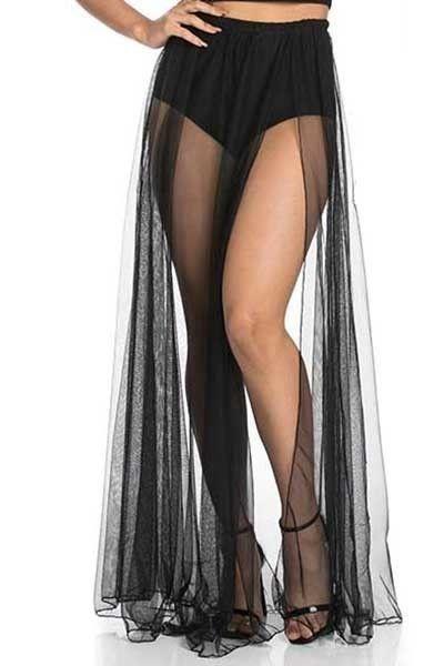 Sheer Nights Maxi Skirt