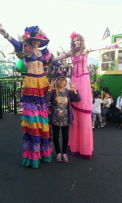 Luna park melbourne www.novastarproductions.com.au  #stiltwalking #carnival #funtimes