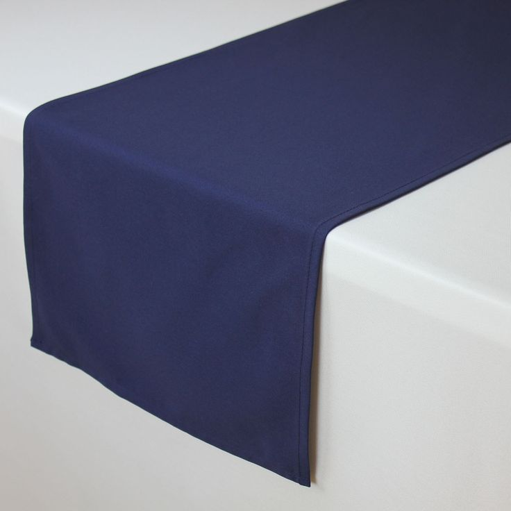 Navy Blue Table Runners, 14 x 108 inch Navy Blue Table Runner | Wholesale Table Linens