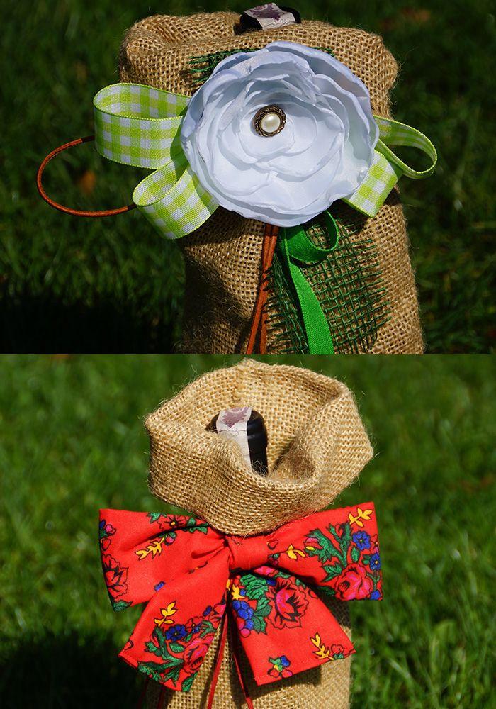 Jutowe worki na wino. Kiedy chcesz, by Twój winny prezent wyglądał bardziej elegancko :) Jolinda.pl Burlap wine bags. When you want your wine gift looks more elegant :)