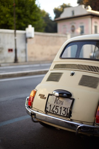 Rome-Driving around in a vintage car to see the sights :)