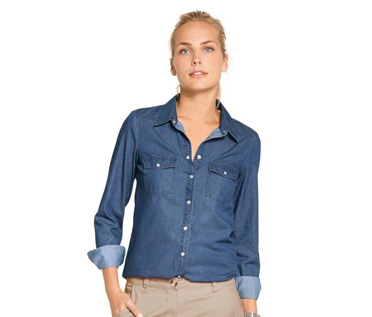 Bluzka dżinsowa z bawełny ekologicznej 322260 w Tchibo