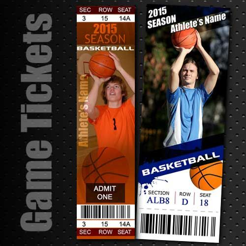 basketball templates | Basketball Game Tickets - $12.99 : Photoshop Templates and Tools ...